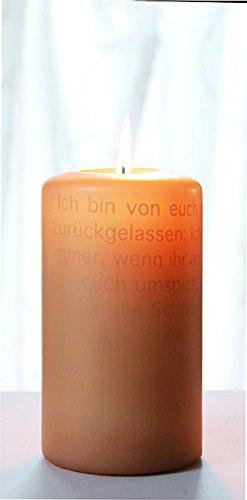 Wortlichtkerze Sinntexte TRAUER - ICH...