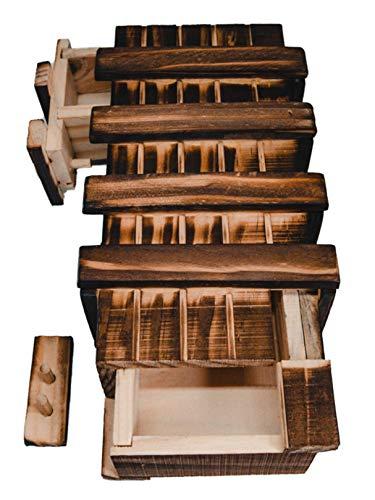 Magische Geschenkbox aus Holz Geld...