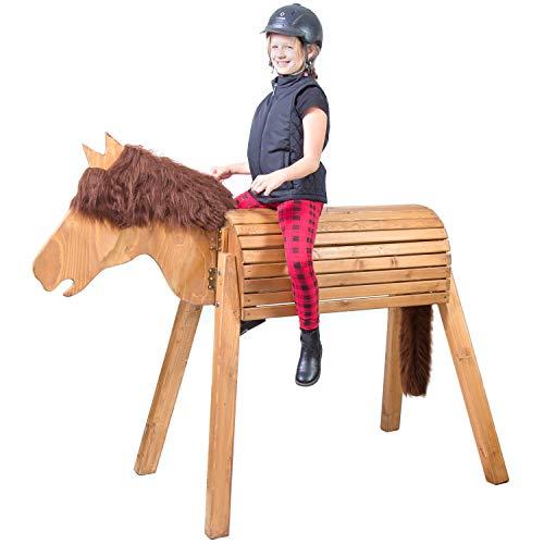 Wildkinder Holzpferd für Draußen -...