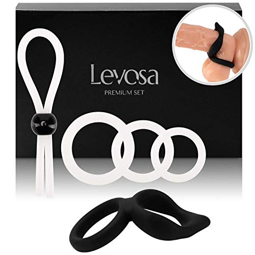 Levosa® 5er Penisring Set - Cockringe +...
