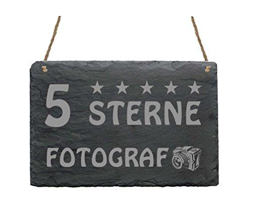 Schiefertafel « 5-STERNE FOTOGRAF »...