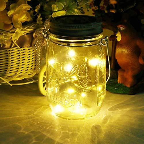 Mason Jar Licht, Solar Laterne 20Leds...