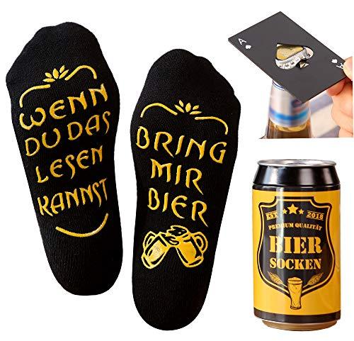 Bier Socken Herren + Flaschenöffner aus...