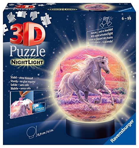 Ravensburger 3D Puzzle Nachtlicht Pferde...